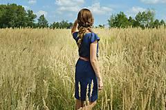 Šaty - Modré šaty - 7087184_