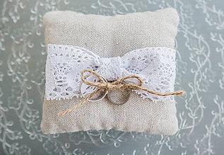 Prstene - Svadobný vankúšik cute - 7086961_