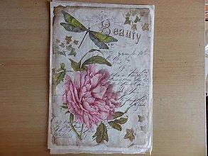 Papier - ruža - 7084605_