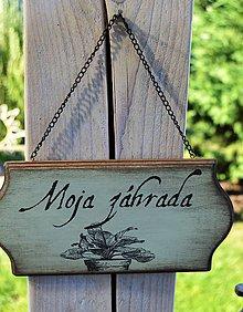 Tabuľky - Závesná tabuľka - Moja záhrada - 7086837_