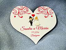Darčeky pre svadobčanov - Magnetka lilly pink - 7087336_