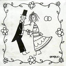 Papier - S779 - Servítky - svadba, novomanželia, ženích - 7089386_
