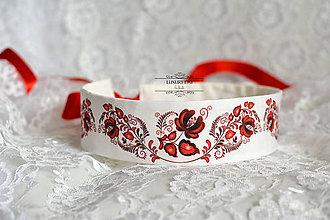 Opasky - opasok folk červený - 7090030_