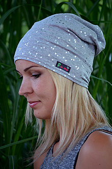 Čiapky - Šmoulí čepice hvězdičky - 7088371_