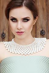 """- biely náhrdelník väčší white dream - """"čas perly"""" - 7089984_"""
