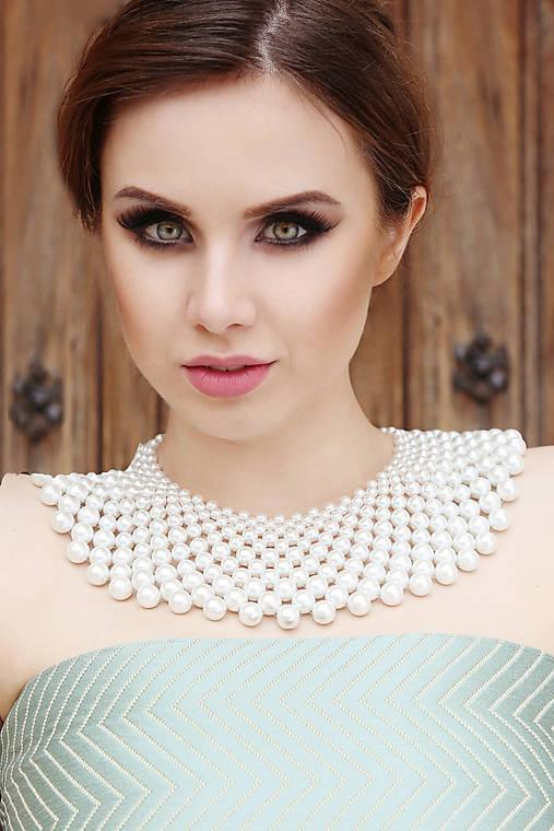 biely náhrdelník väčší white dream -