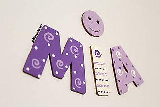 Dekorácie - MIA drevené meno na želanie do detskej izbičky - 7090355_
