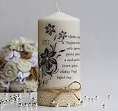 Dekoračná sviečka k narodeninám