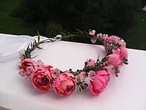 """Ozdoby do vlasov - Kvetinový venček do vlasov """"...v botanickej záhrade..."""" - 7088989_"""