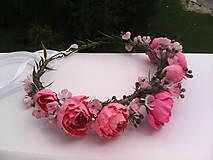 """Ozdoby do vlasov - Kvetinový venček do vlasov """"...v botanickej záhrade..."""" - 7088990_"""