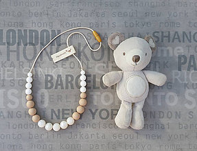 Náhrdelníky - Silikónový náhrdelník na žužlanie \