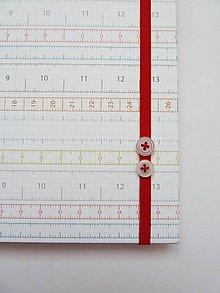 Papiernictvo - Zápisník A5 - krajčírsky meter - 7089721_