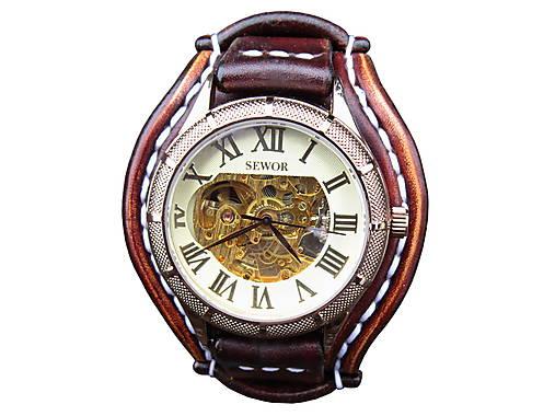 75f2bdd69 Vintage hodinky pánske hnedé II / leon - SAShE.sk - Handmade Náramky