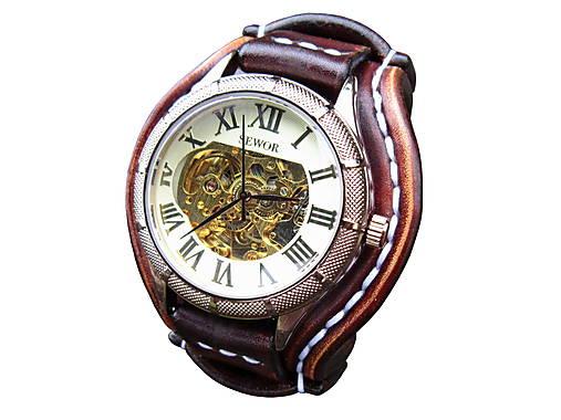 06d1d7881 Vintage hodinky pánske hnedé II / leon - SAShE.sk - Handmade Náramky