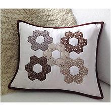 Úžitkový textil - Romantická patchworková obliečka 3 - 7089860_