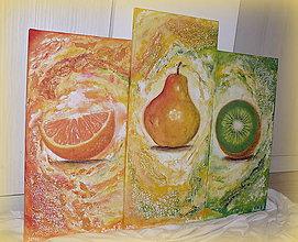 """Obrazy - Velké """"Ovocné trio""""-3 obrazy na stenu :) - 7091228_"""