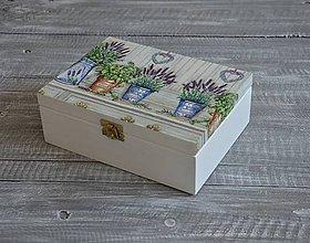 """Krabičky - krabička 6-priečinková """"Levanduľa v plecháčikoch"""" - 7091133_"""