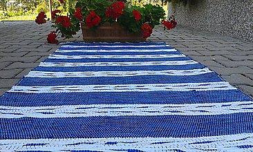 Úžitkový textil - Modrý s bielymi pásmi 200x74cm - 7090288_
