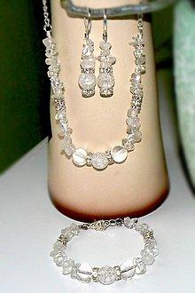 Sady šperkov - Setik na želanie z prirodneho kryštalu - 7093235_