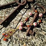 Sady šperkov - Vintage náramok s karneolom - 7093563_