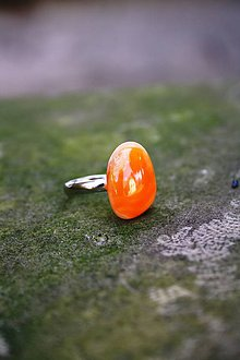 Prstene - Fusingový prsteň - Oranžáda 2 - 7094142_