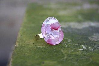 Prstene - Fusingový prsteň - Lupene ruží - 7094516_