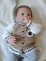 Detské oblečenie - Hnedý svetrík - 7094123_