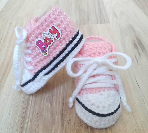 Ružové tenisky BABY   dominikita - SAShE.sk - Handmade Topánočky 06c9a3e5f0