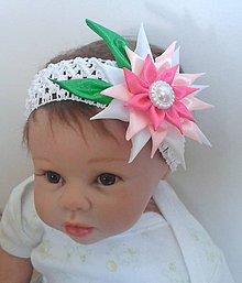 Detské doplnky - Čelenka s kvetinkou - 7093535_
