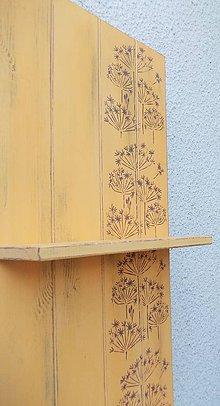 Nábytok - Mandarinková polička - kvetinky - 7095335_