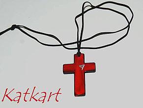 Iné šperky - Ručne maľovaný krížik - 7092646_