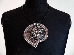 """Náhrdelníky - Paličkovaný šperk """"Caffé laté"""" - SD-SA-042 - 7093608_"""