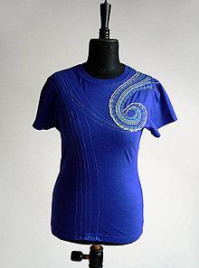 Tričká - Dámské triko s paličkovanou krajkou - TPK-012 - 7094964_