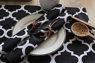 """Úžitkový textil - Prestieranie """"Maroko black"""" - 7092333_"""