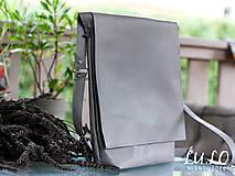 Kabelky - Kožená taška - sivá - - 7092366_
