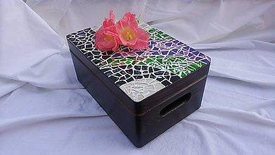Krabičky - debnička s retro mozaikou - 7095249_