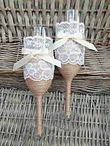 Nádoby - Svadobné poháre biele 2 - 7092795_