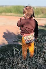 """- Detské upletové nohavice """"Orlie pierko"""" - 7093697_"""