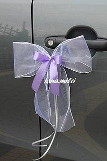 Dekorácie - svadobné mašle na autá - 7094685_