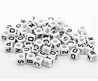 - Korálky písmená kocky (balíček 100ks) - 7091597_