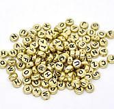 Korálky - Zlaté korálky abeceda (balíček 500ks) - 7091612_