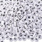 Korálky - Plastové korálky písmenká (balíček 500ks) - 7091620_