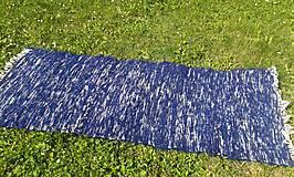 Úžitkový textil - Tmavo modrý chlpatý koberec 165x74cm - 7092060_