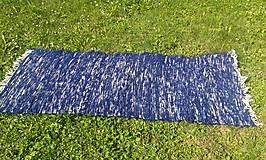Úžitkový textil - Tmavo modrý chlpatý koberec 165x74cm - 7092067_