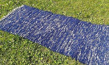 Úžitkový textil - Tmavo modrý chlpatý koberec 165x74cm - 7092070_