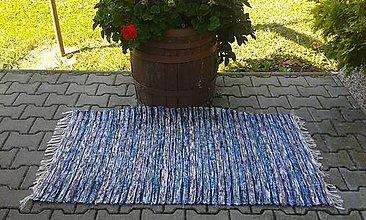 Úžitkový textil - Chlpatý rôznofarebný koberec 140x74cm - 7092080_