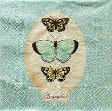Papier - S781 - Servítky - motýľ, vintage - 7095468_