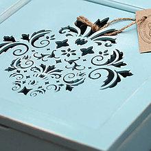 Krabičky - Skrinka na čaj Ornament II - Mediteran - 7096239_