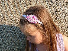 Ozdoby do vlasov - Korálková čelenka - satenová - 7098142_