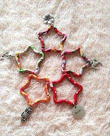Kľúčenky - kľúčenka s farebnou karabínkou - 7096536_